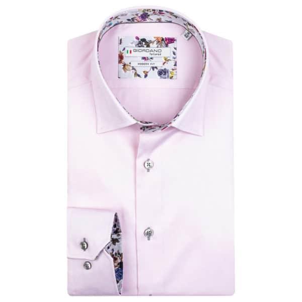 Giordano Brighton LS Under Modern Fit pink shirt