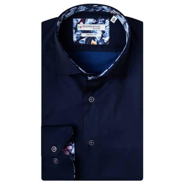 Giordano shirt Baggio LS Cutaway navy