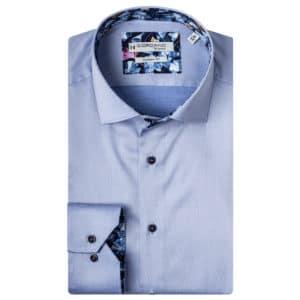 Giordano shirt Baggio LS Cutaway pale blue