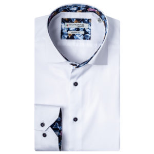 Giordano shirt Baggio LS Cutaway white