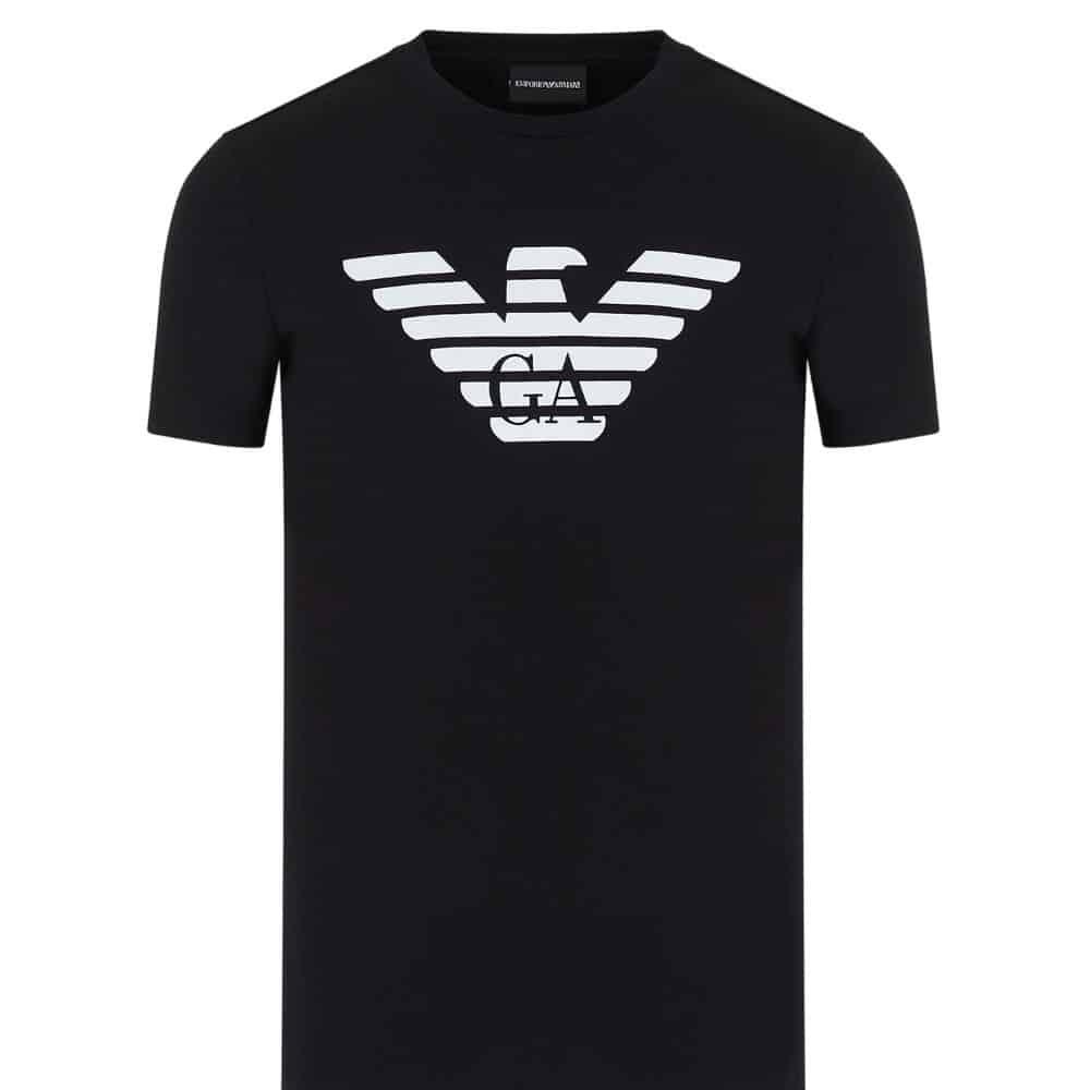 Pima cotton T shirt with oversized eagle