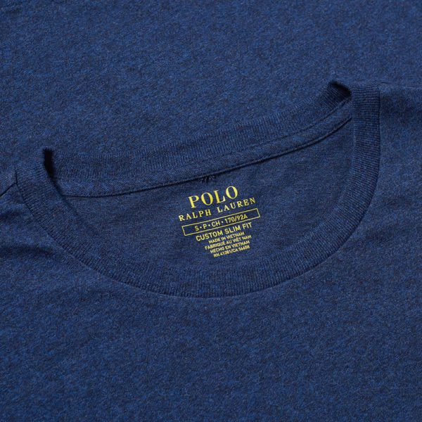 custom slim fit blue ralph t shirt label