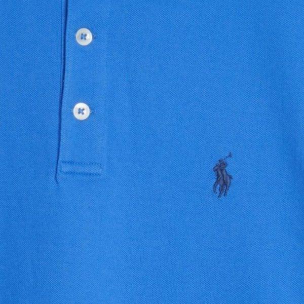polo ralph lauren blue polo black pony detail