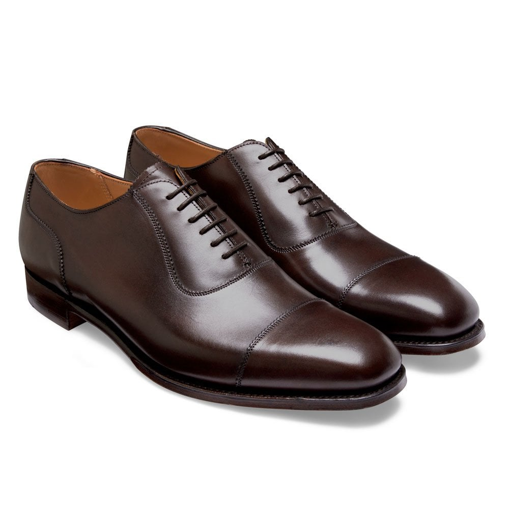 cheaney brackley oxford in burnished mocha calf leather p497 6299 image