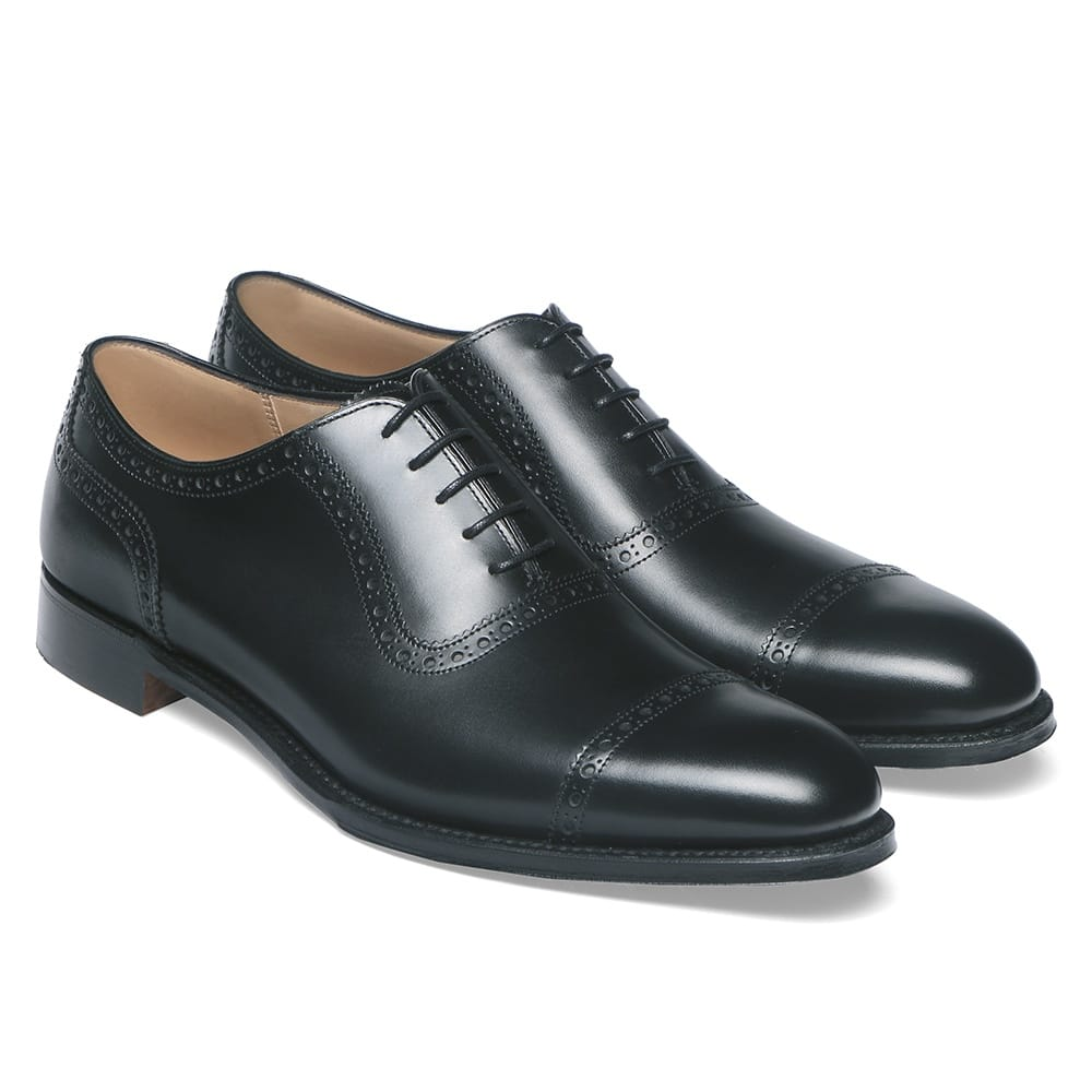 cheaney fenchurch oxford in black calf leather leather sole p32 1266 image