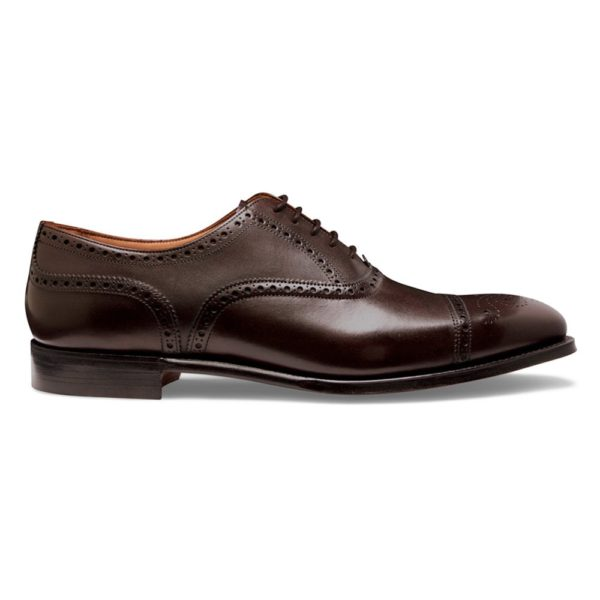 cheaney islington semi brogue in burnished mocha calf leather p667 6297 image
