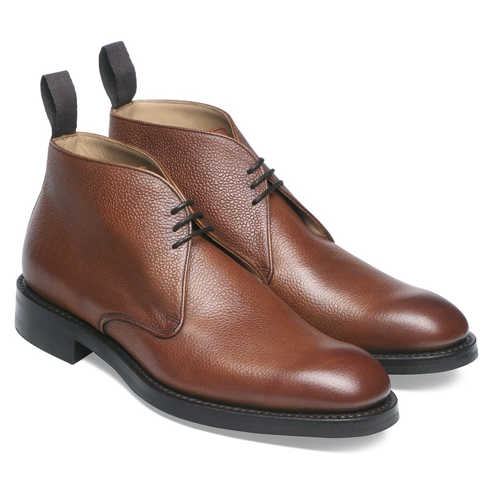 cheaney jackie iii r chukka boot in mahogany grain leather p100 1627 image