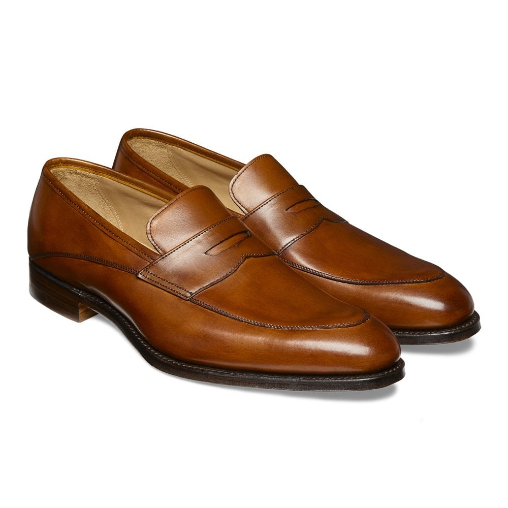 cheaney lewisham penny loafer in dark leaf calf leather p847 5823 image