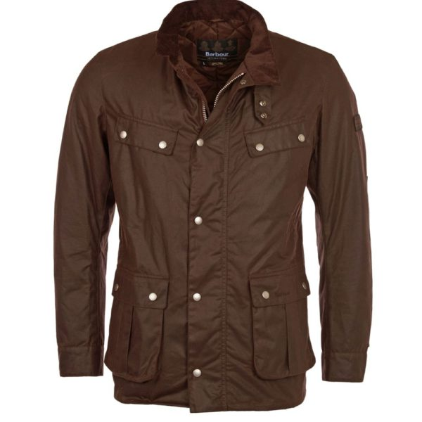 Barbour Wax Duke Brown Front