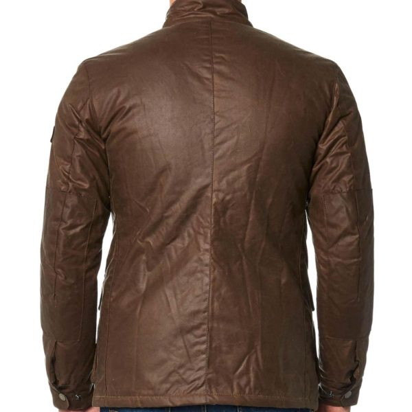 Barbour Wax Jacket Duke Brown Back