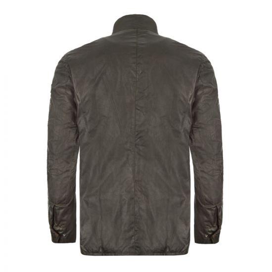 Barbour Wax Jacket Duke Sage Back