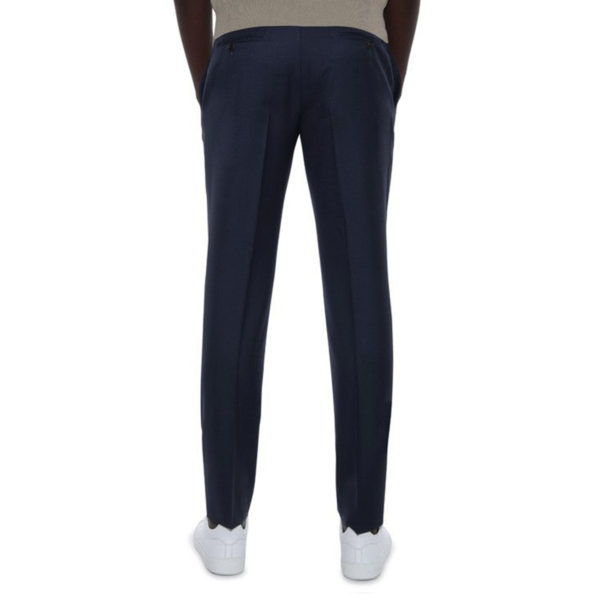 CANALI FORMAL WOOL TROUSERS IN MIDNIGHT NAVY BACK
