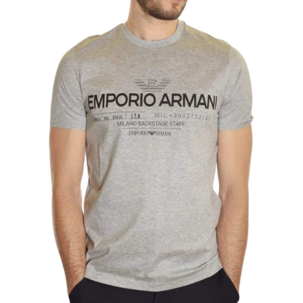 EMPORIO ARMANI LOGO WHITE T SHIRT 1