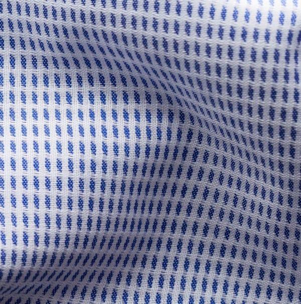 Eton shirt Blue micro woven dobby