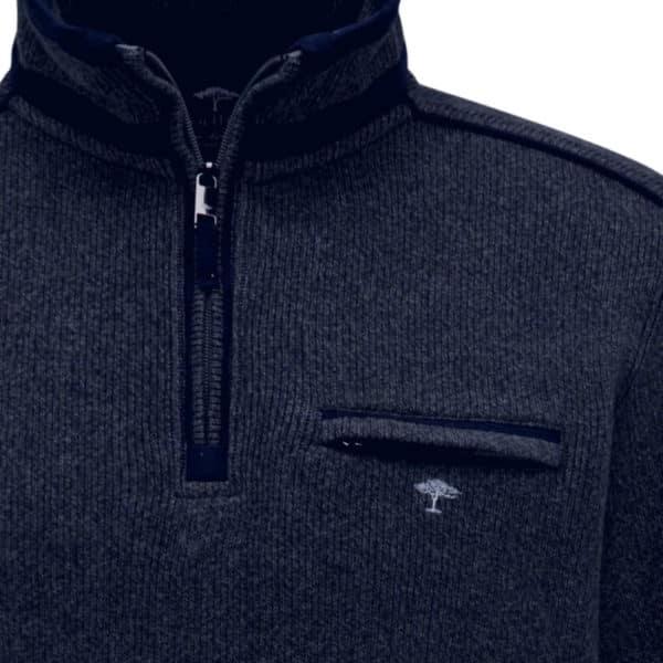 Fynch hatton half zip front zip pocket