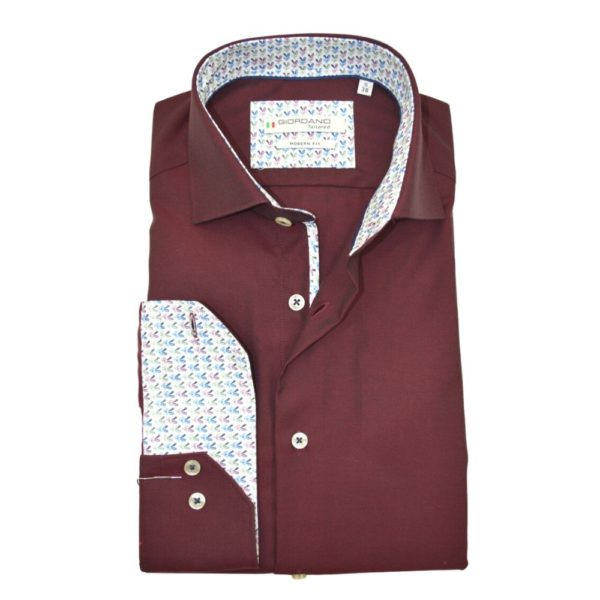 Giordano Burgundy Shirt Front