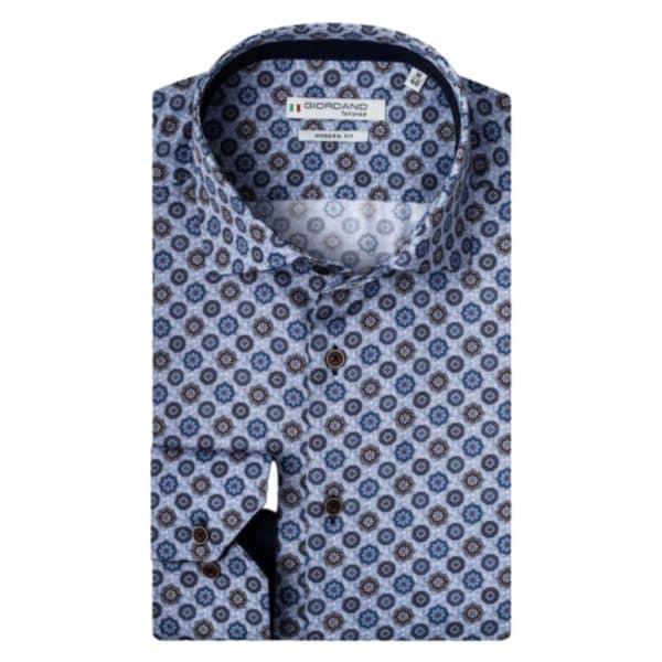 Giordano Shirt Flowers Blue