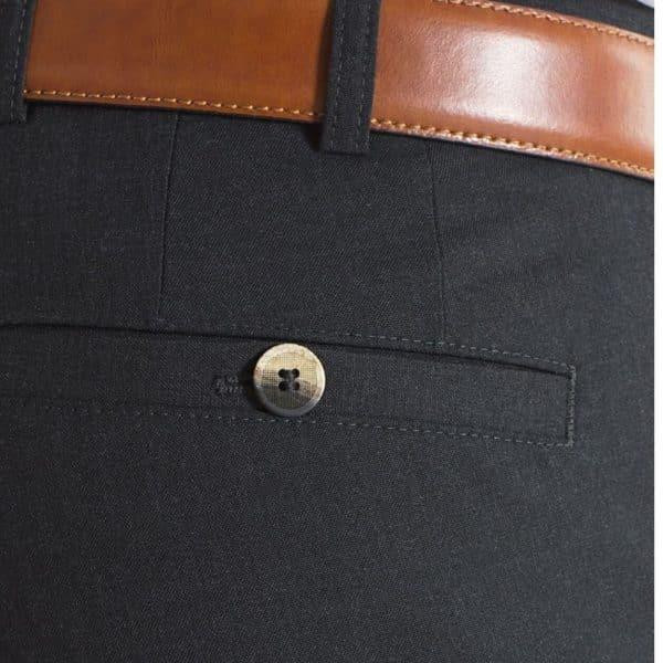 Meyer Roma Charcoal Wool Chinos back pocket