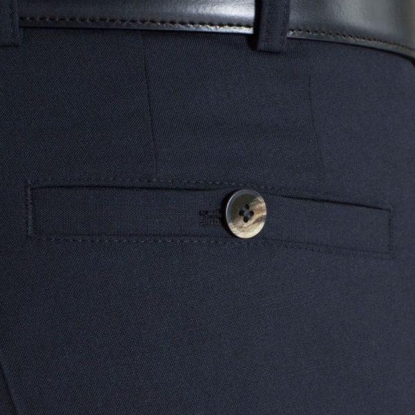 Meyer Roma Navy Wool Chinos Back pocket
