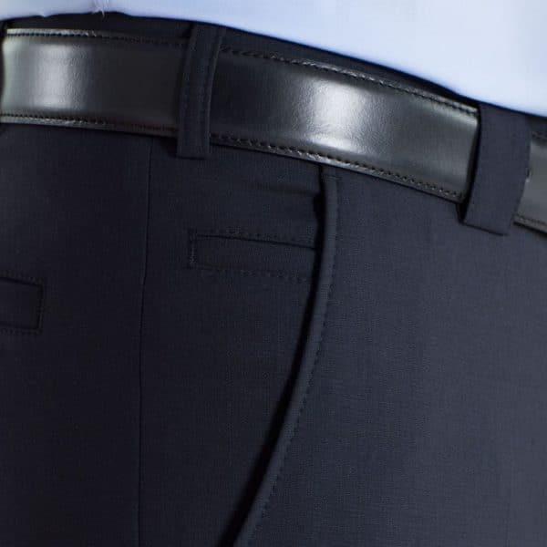 Meyer Roma Navy Wool Chinos side pocket