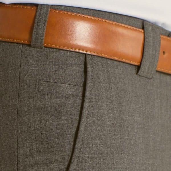Meyer Roma Taupe Wool Chinos pocket