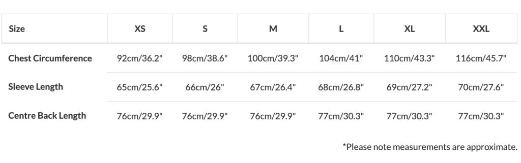 Paul Smith shirt size guide