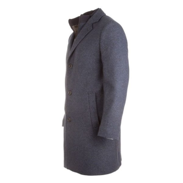 Roy RObson fine structured navy coat 4