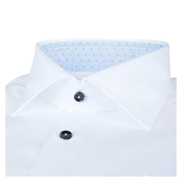 Stenstroms White shirt blue collar collar