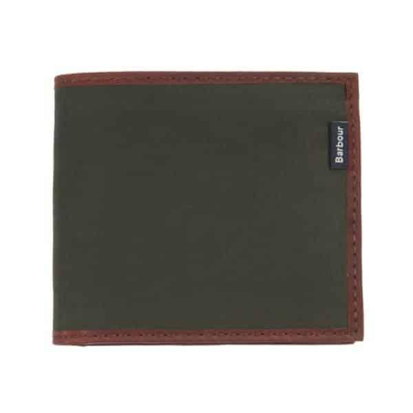 barbour drywax billfold wallet main