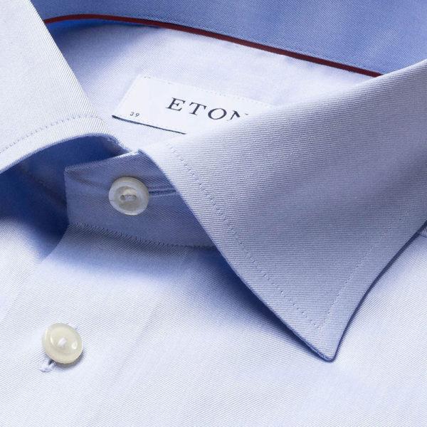 eton shirt classic light blue
