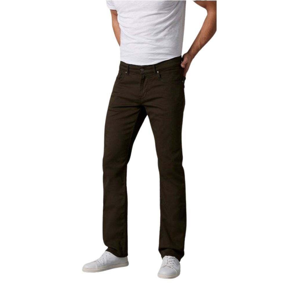 7 FOR ALL MANKIND SLIMMY LUXE PERFORMANCE COLOR FOREST NIGHT DARK ARMY
