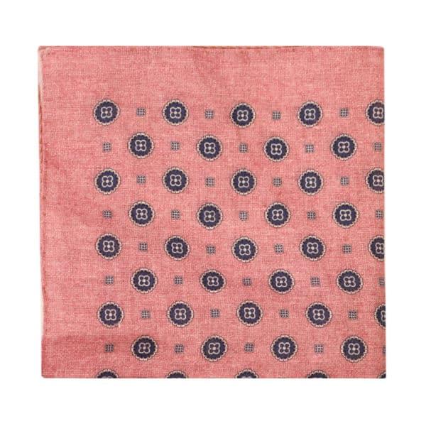 Amanda Christensen pocket square flower circle pink