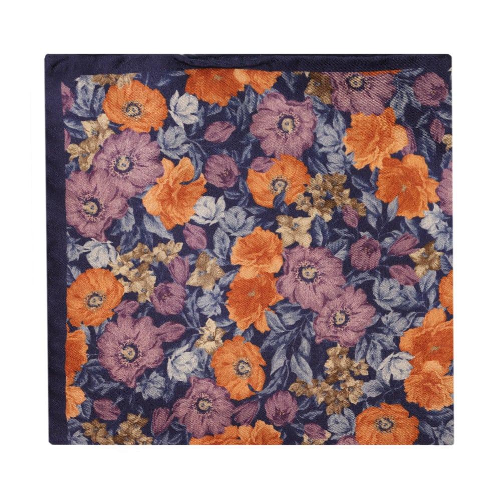 Amanda Christensen pocket square flower garden