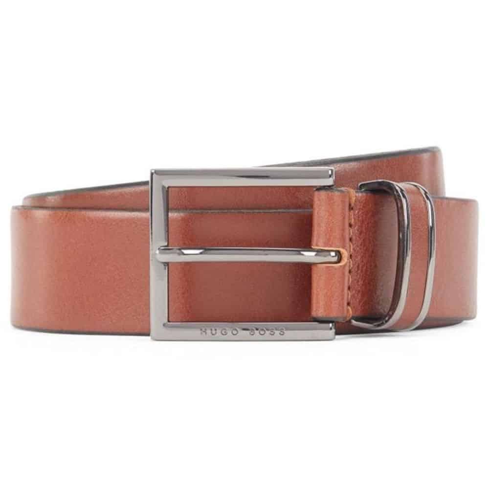 Boss Canzio leather belt tan