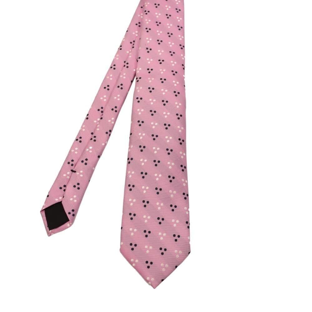 Boss Tri dot Tie Lilac 1