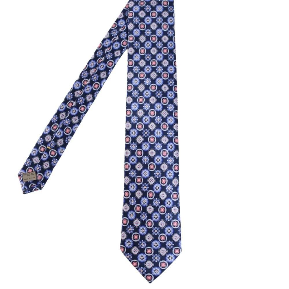 Canali Decorative Pattern Tie blue main