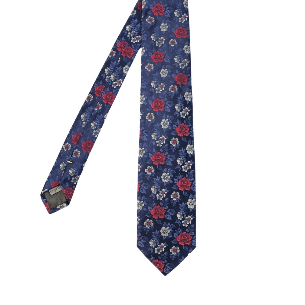 Canali Floral bloom tie blue main