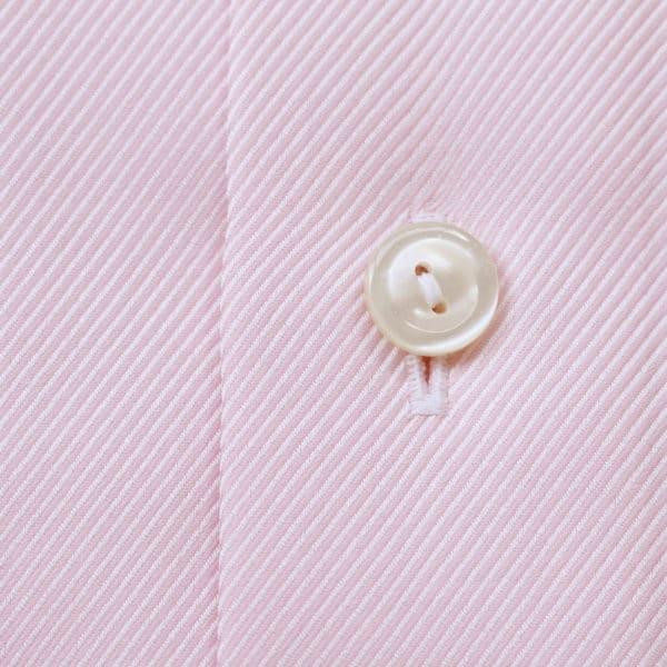 Eton Shirt structured textured diagonal twill pink fabric