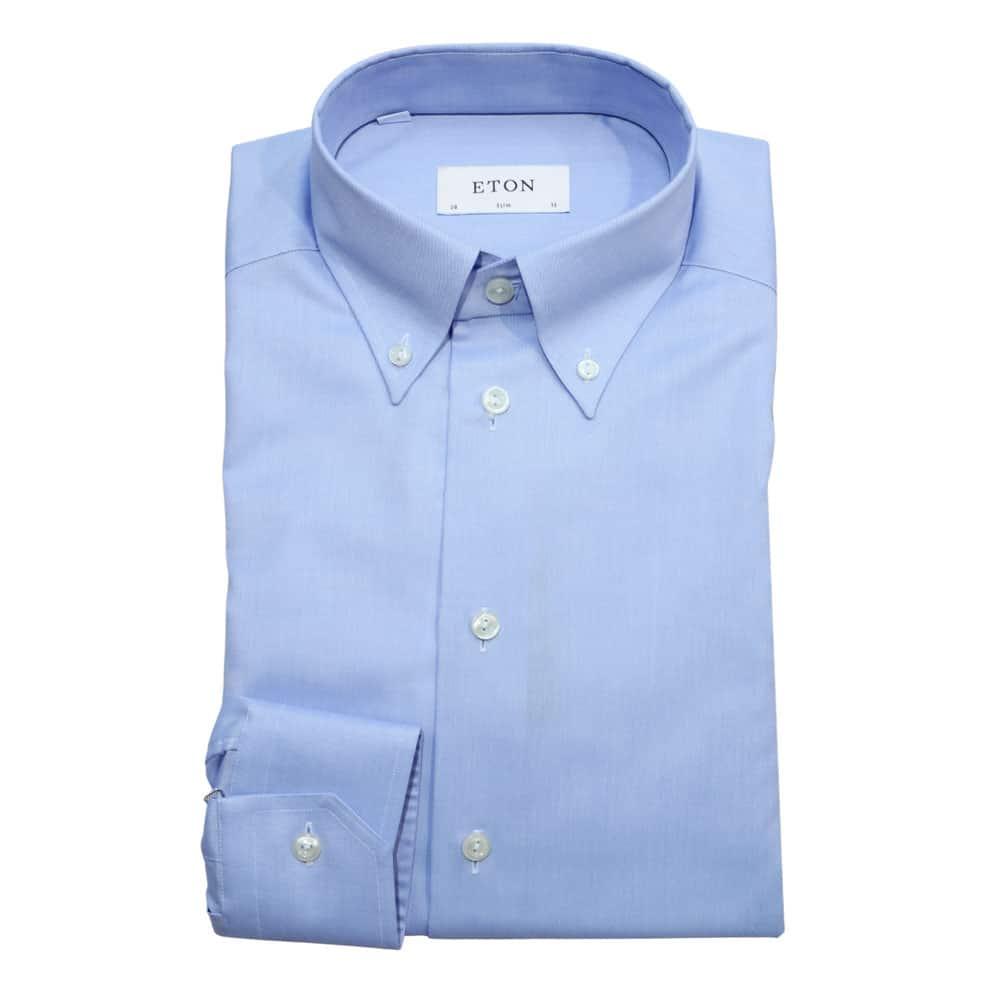 Eton shirt button under collar