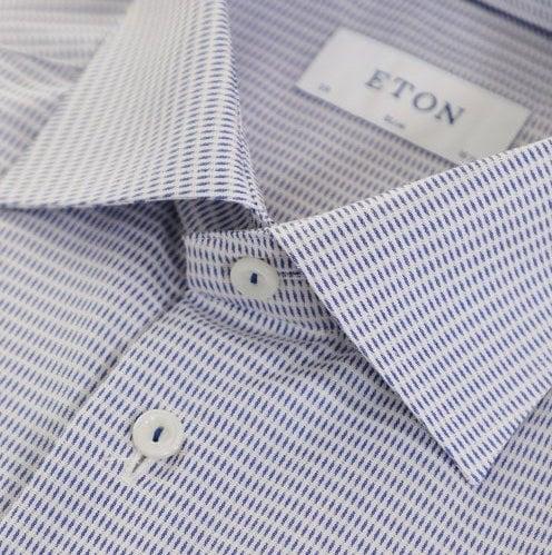 Eton shirt dobby woven blue