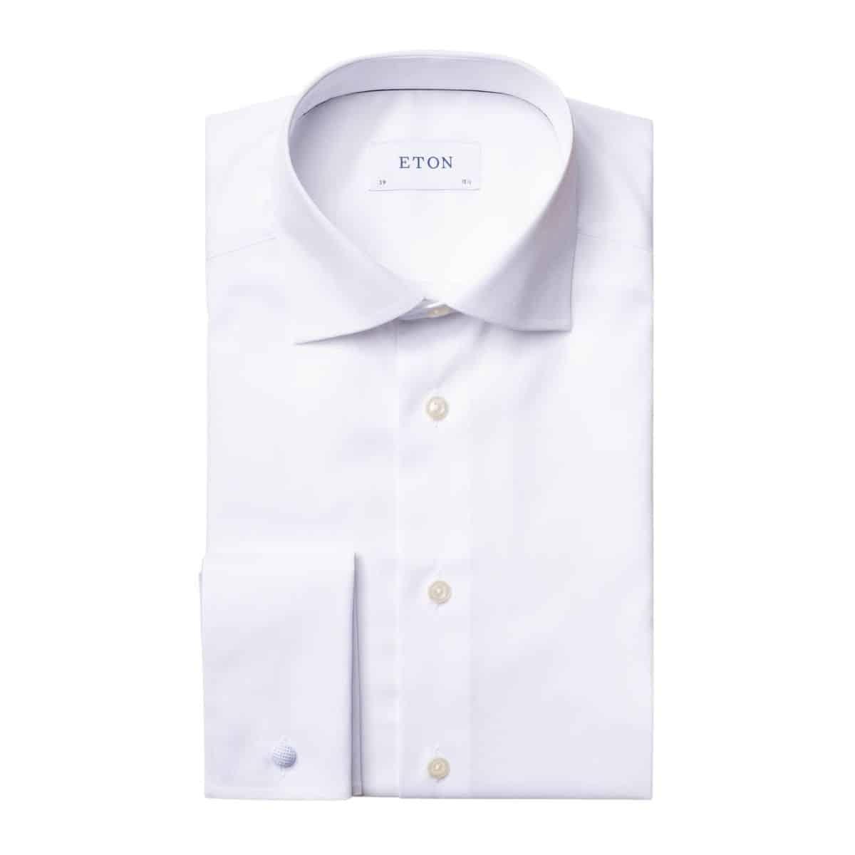 Eton shirt signature twill white french cuff