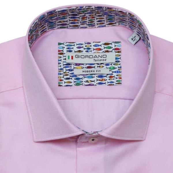 Giordano pink shirt fish pattern1