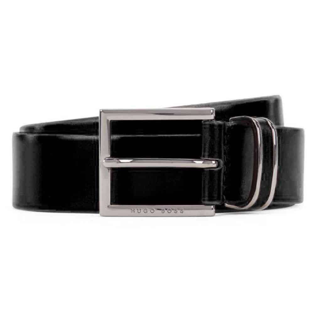 Hugo Boss Canzion Black Leather Belt