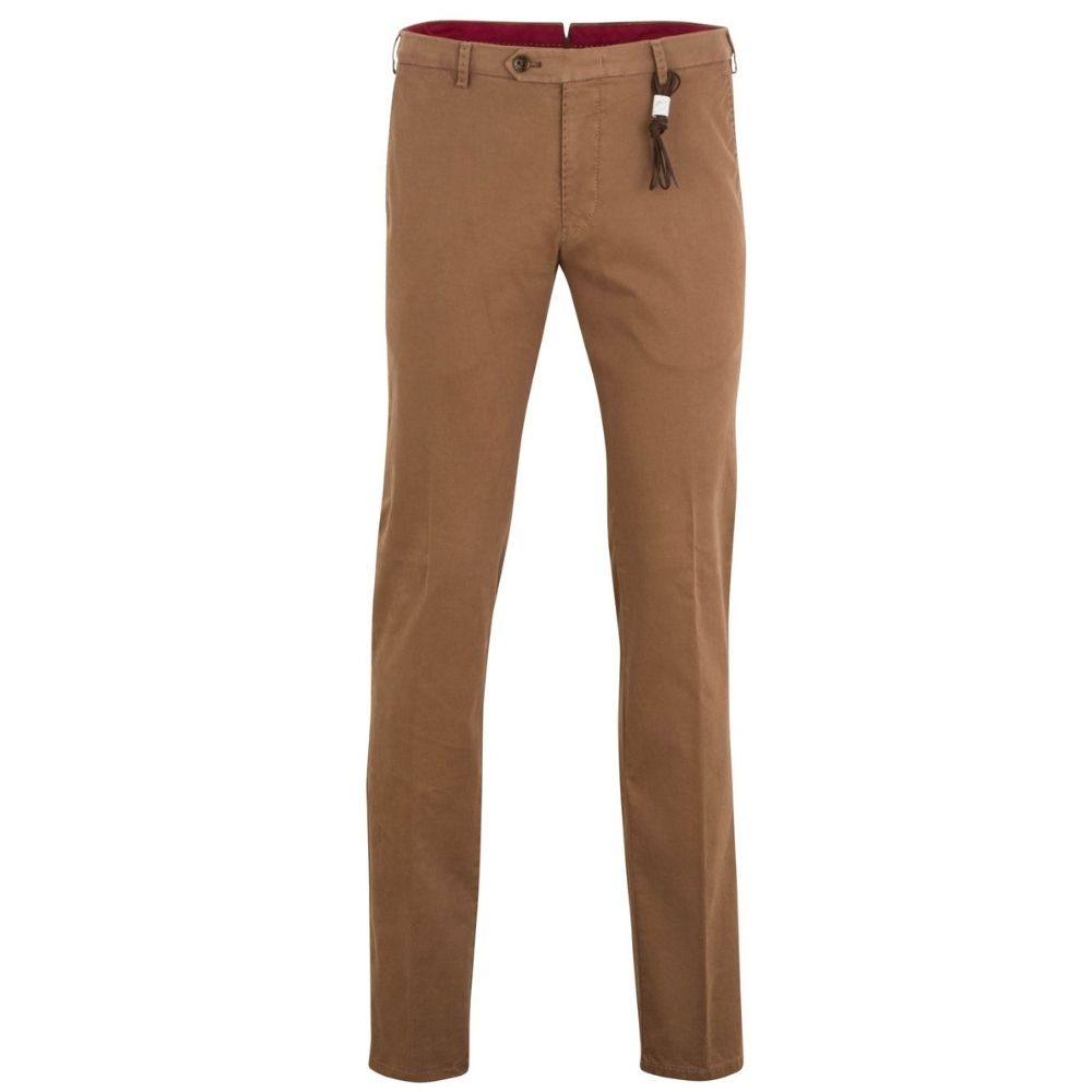 MMX LYNX Cotton and Cashmere Camel Chinos