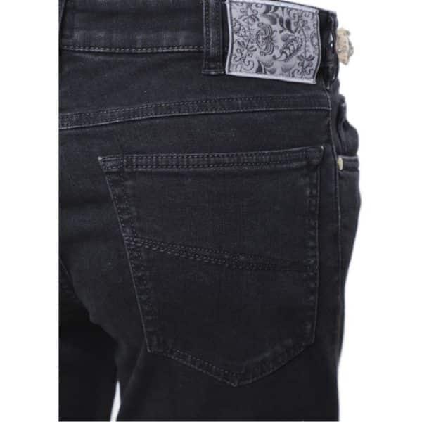 MMX Phoenix Jeans Slim Fit Stretch Black back detail
