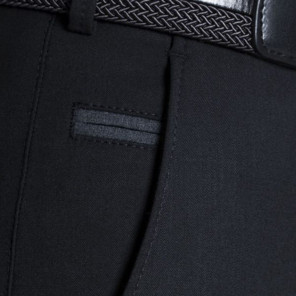 Meyer Bonn Travel fine Gabardine Black Chinos side pocket