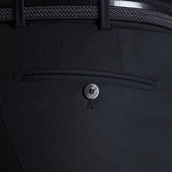 Meyer Bonn Travelfine Garbedeine Black Chinos back pocket
