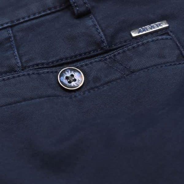 Meyer New York Navy Cotton Chinos back detail