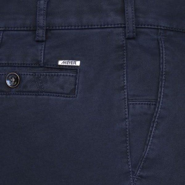 Meyer New York Navy Cotton Chinos side detail