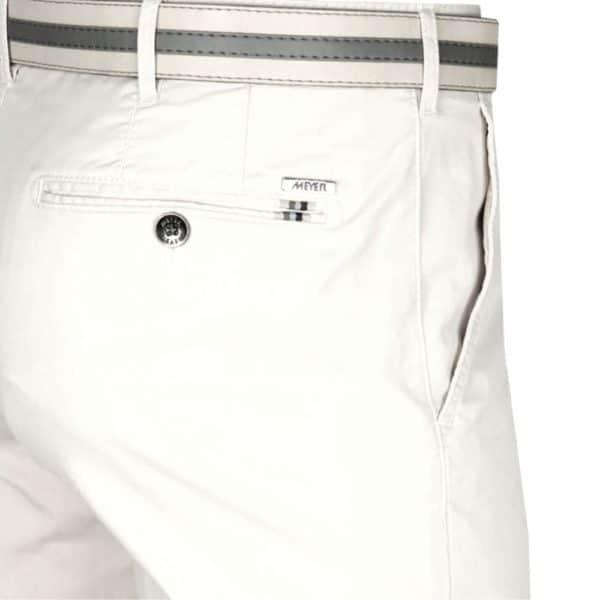 Meyer Rio White Cotton Chinos back 1